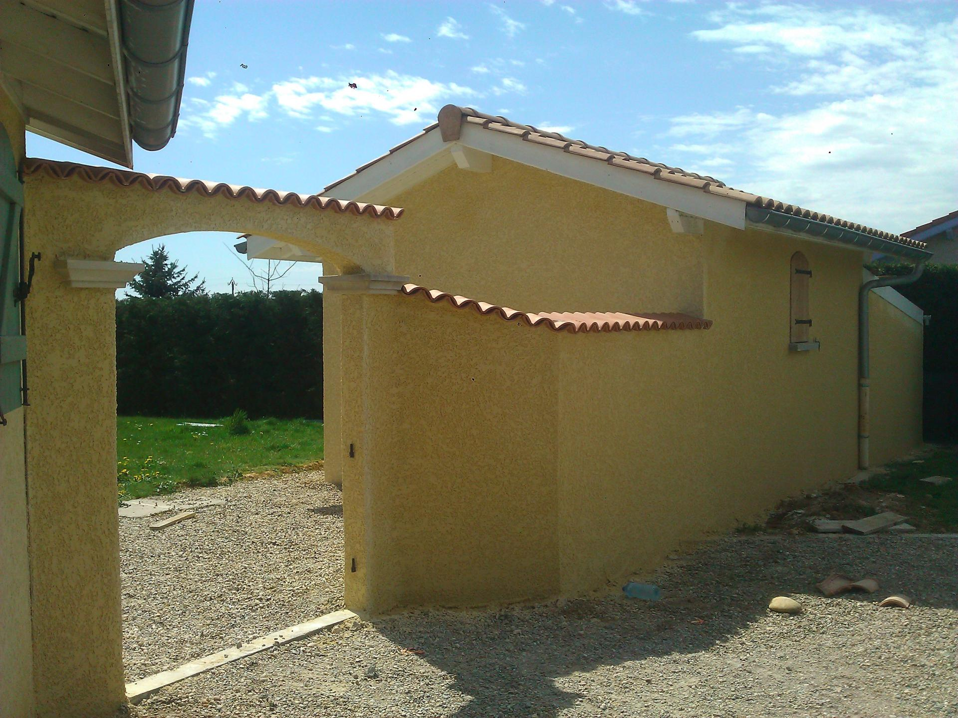 Batiak façade - Mur + Abri de jardin Sonnay (38)